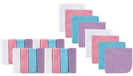 Pink Chevron Luvable Friends 12 Piece Washcloths