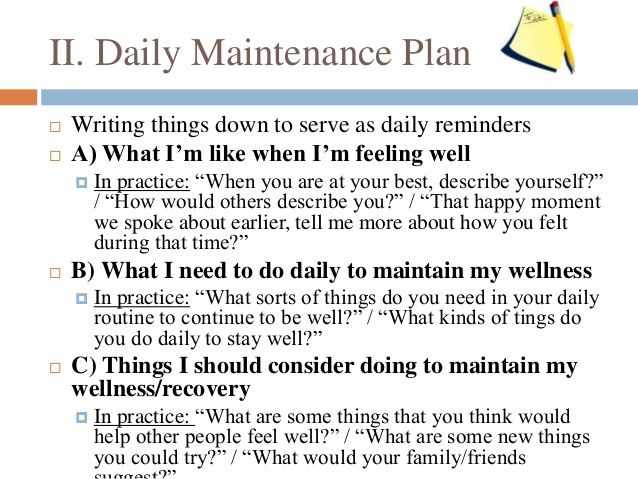 Image result for wellness recovery action plan worksheets ...