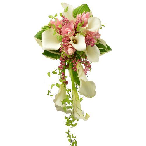 bouquet de mari e collection zo 39 e un bouquet de mari e aux fleurs exotiques alpinias callas. Black Bedroom Furniture Sets. Home Design Ideas