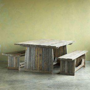 Sundance Barnwood Picnic Table Benches