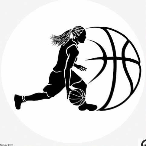 Female Basketball Dribble Sihouette With Ball Sportsartzoo Basketball Dribble Basketball Workouts Basketball Drills