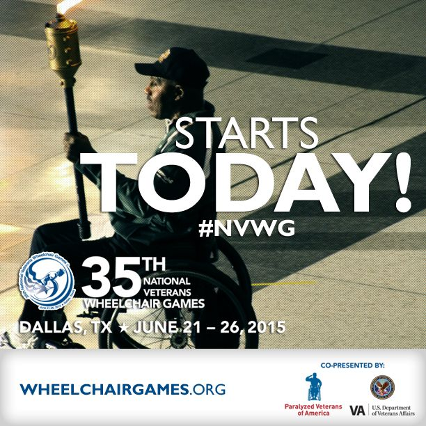 today the 35th national veterans wheelchair games begin in dallas