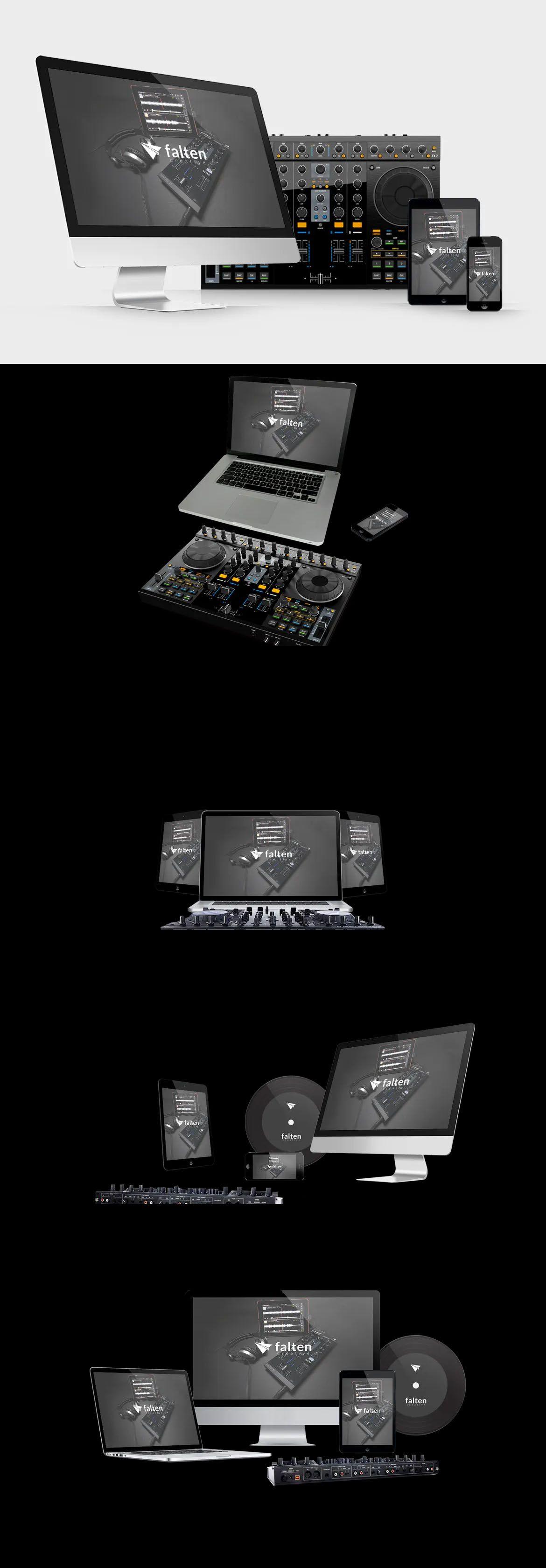 Music Website Mockups Pack Website Mockup Mockup Design Template