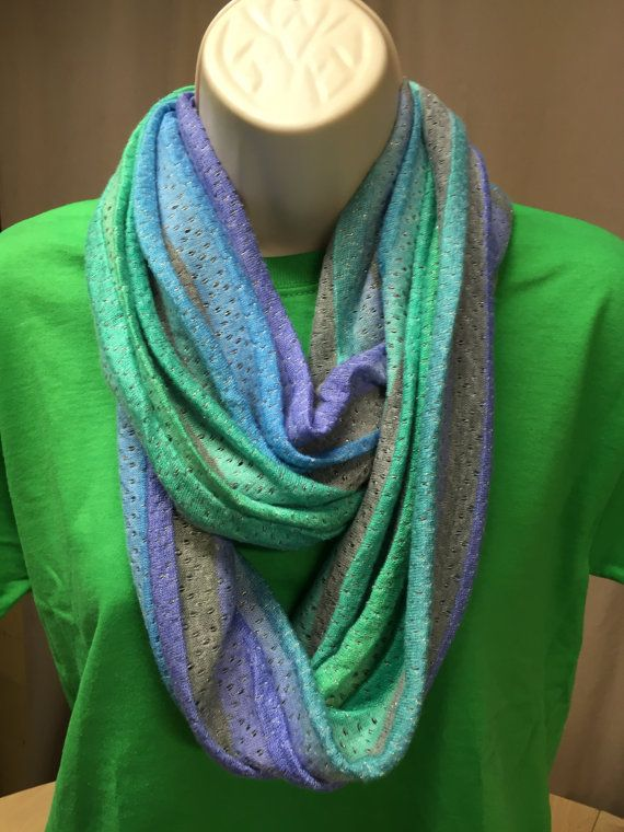 infinity scarf pastel stripes unique by NanasSweeties51 on Etsy