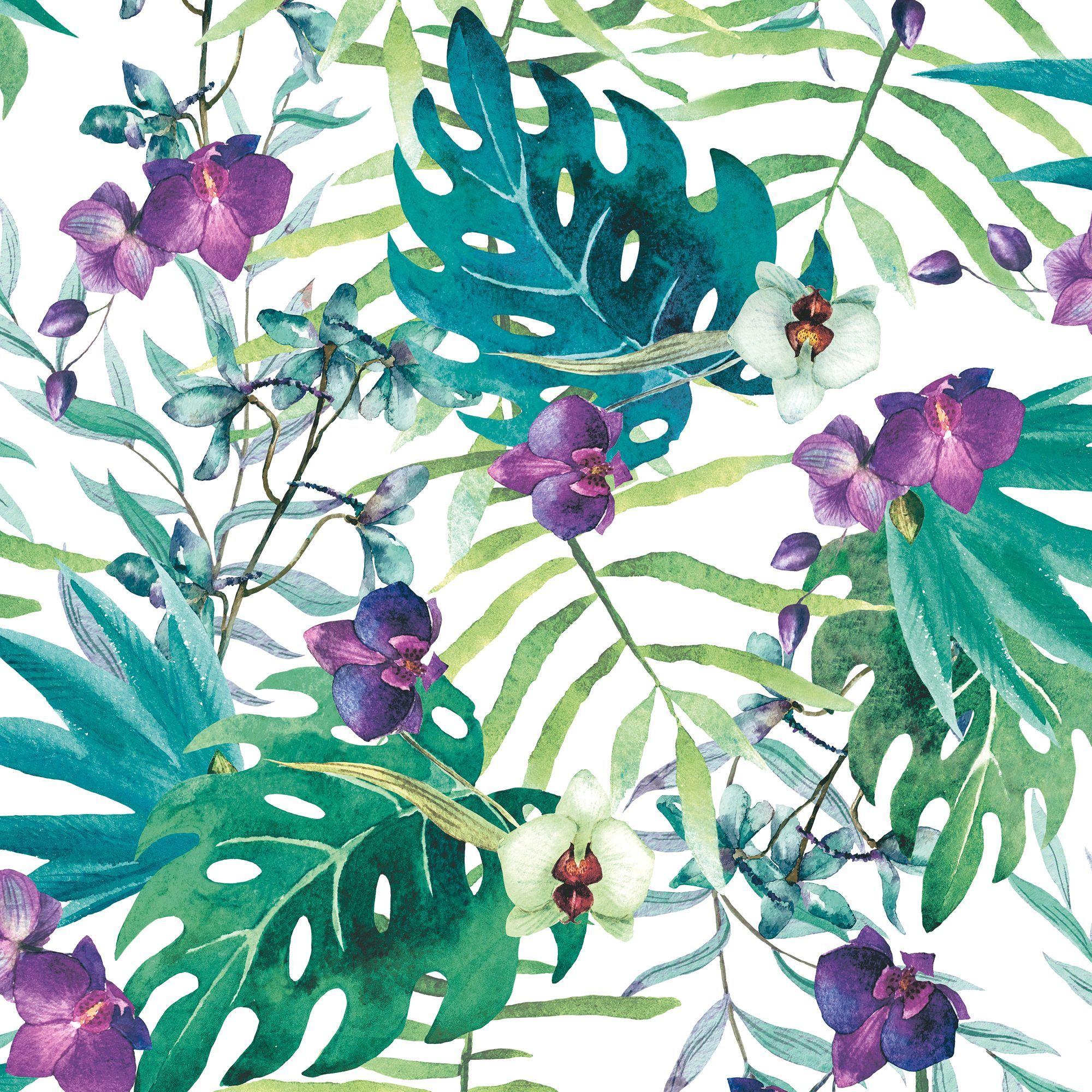 Muriva Tropical Floral Wallpaper Floral Wallpapers Wallpaper