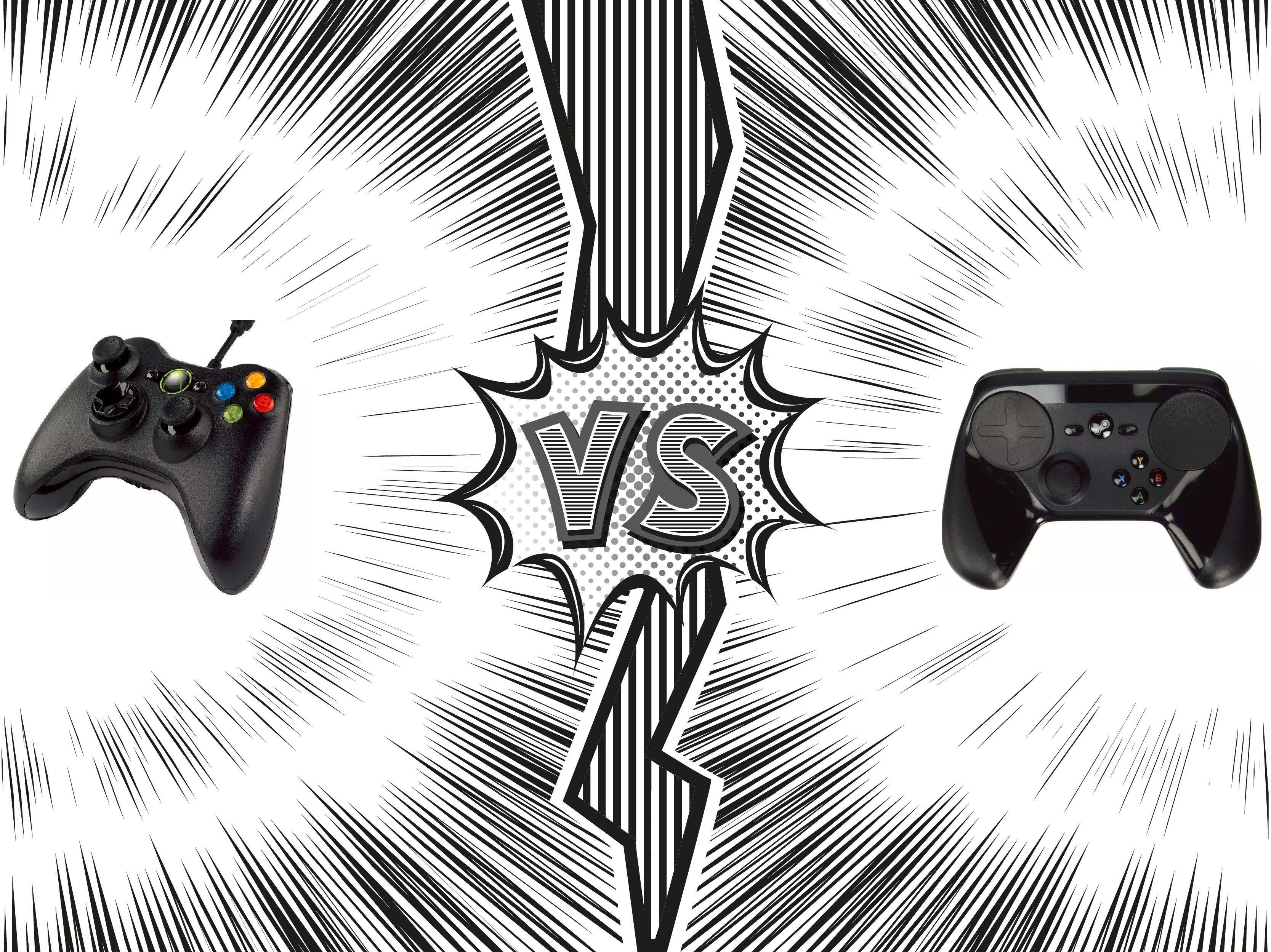 Steam Controller Vs Microsoft Xbox 360 Wired Controller