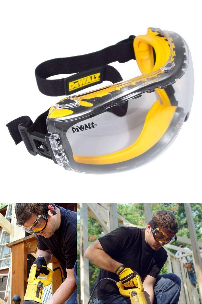 Dewalt Safety Goggles Over Glasses Concealer Clear Anti