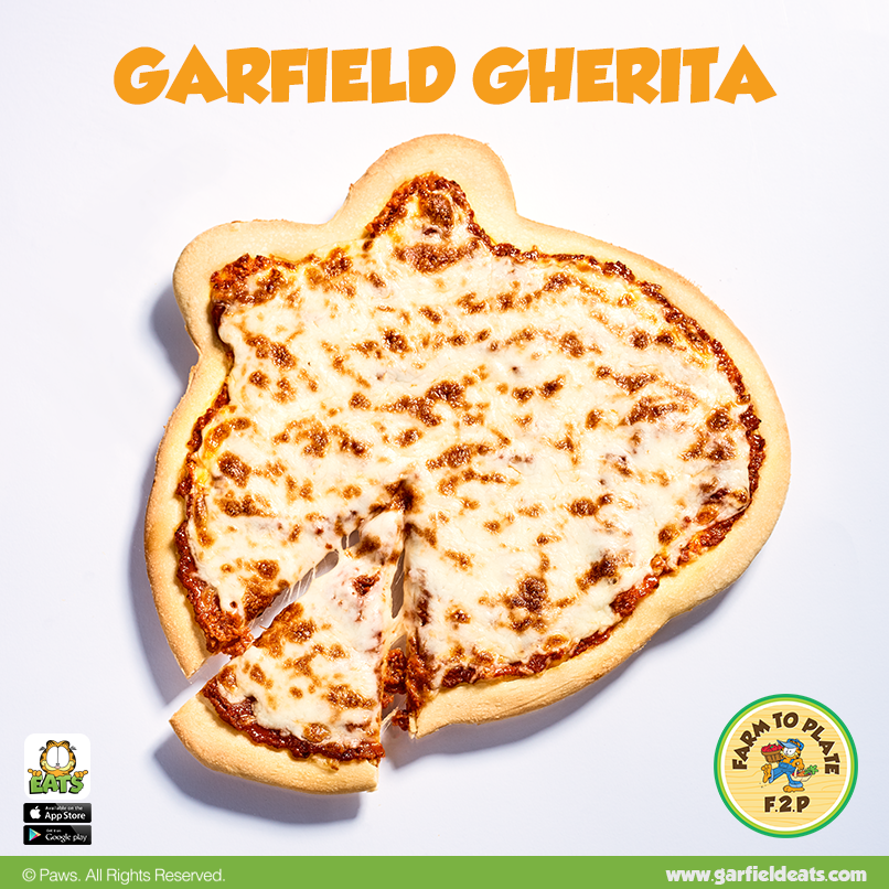 Garfield Gherita Treasure Of Mozzarella Toppings On Our Natural Dough Bed Crowned With Our Delicious Garfieldeats Secret Tomat Food Delicious Pizza Eat Pizza