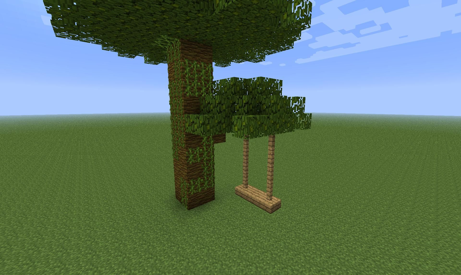 Minecraft garden and swing | Minecraft | Minecraft
