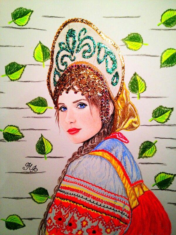 Dibujo con brillos por Natalia Vasilyeva