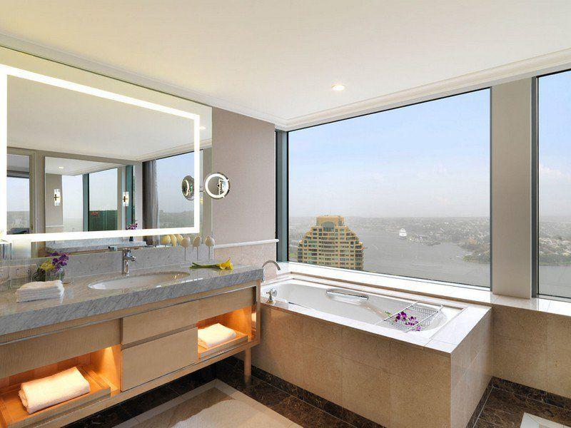 miroir salle de bain lumineux et clairage indirect en 50 ides - Petit Miroir Salle De Bain