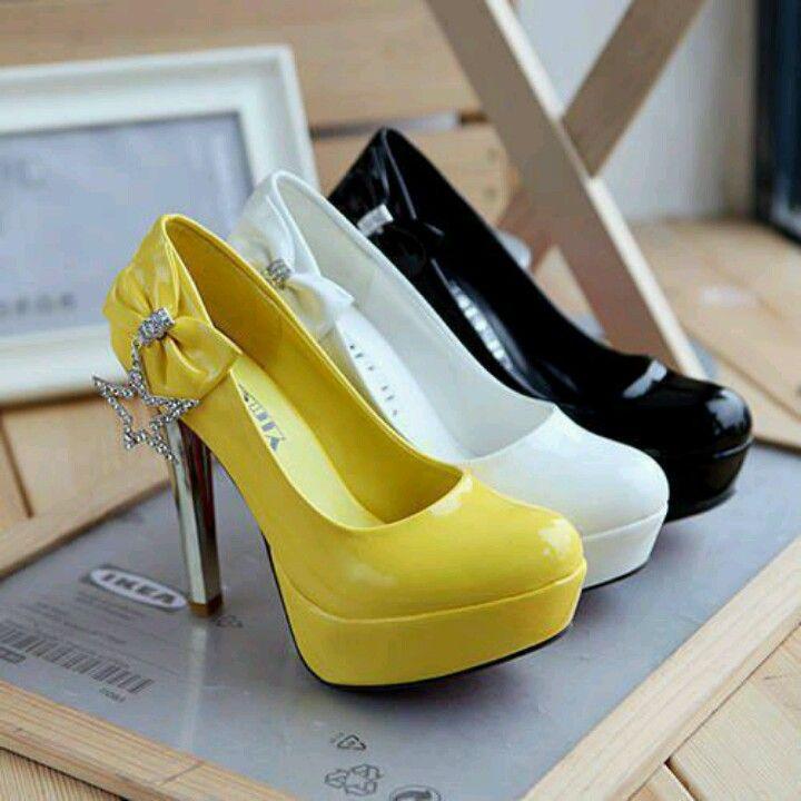 Yellow white black