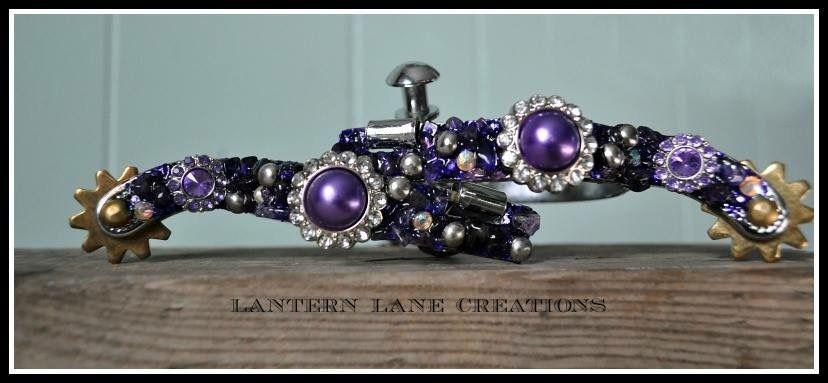 Lantern Lane Creations purple spurs