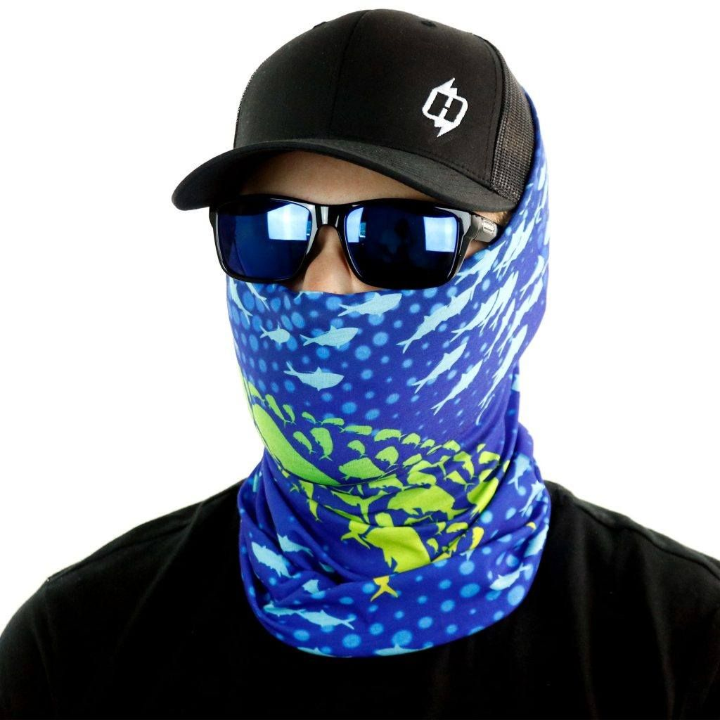Dolphin Sun Protective Face Mask and Neck Gaiter by Hoo-rag
