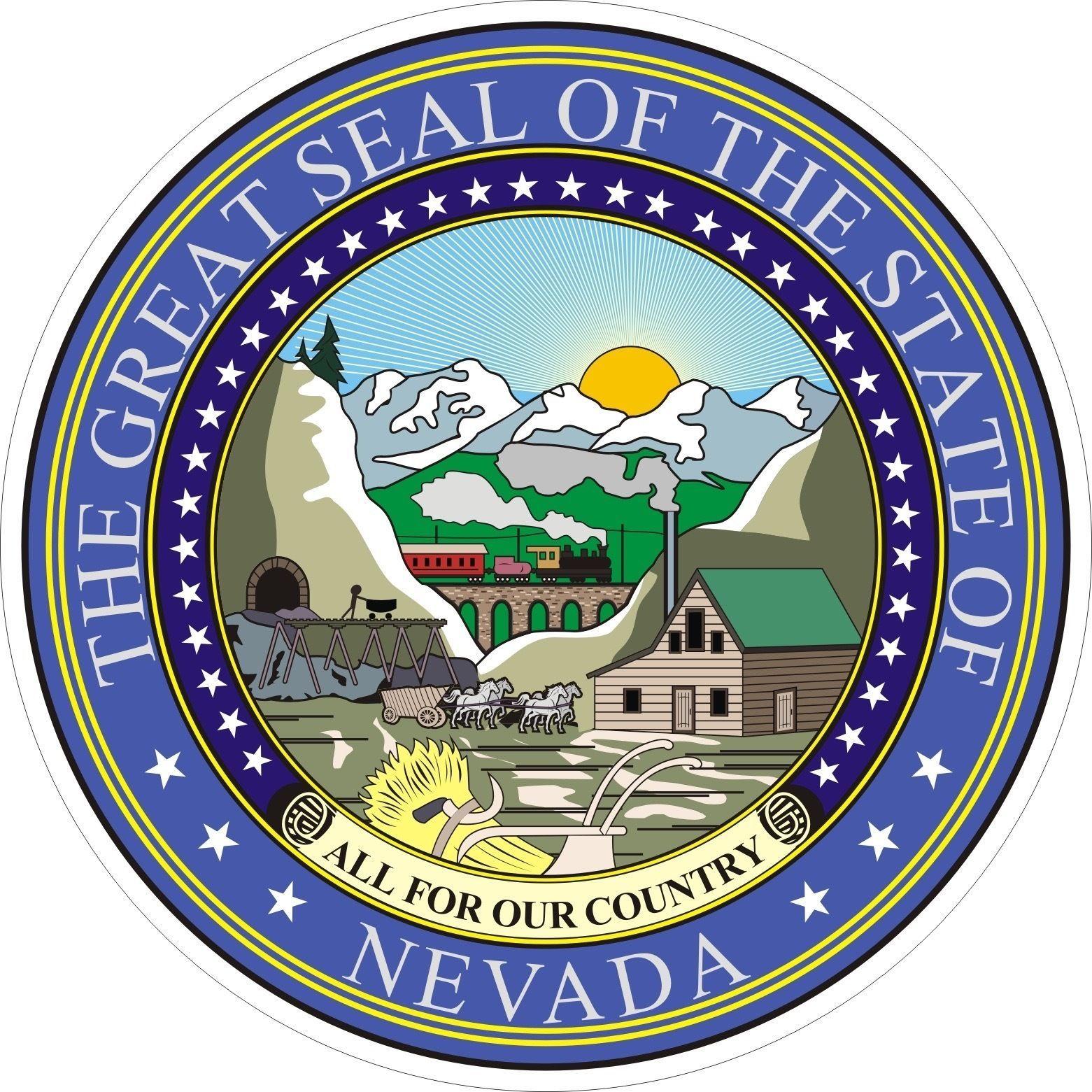 Nevada State Seal Nevada Nevada State Nevada Usa
