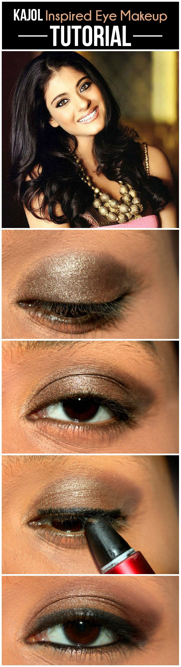 kajol inspired eye makeup – tutorial with detailed steps and