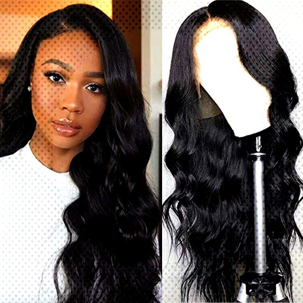 Lace Front Wigs Brazilian Body Wave Human Hair Wigs For Black Women Pre Plucked with Baby Hair  Hai