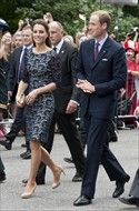June 30, 2011 - The Duke and Duchess of Cambridge outside the official residence of the Governor General of Canada, Rideau Hall in Ottawa, on the first day of their visit to the Commonwealth country