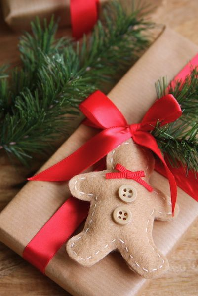 FELT GINGERBREAD MAN ORNAMENTS & GIFT TAGS | ahomemadeliving | Bloglovin'