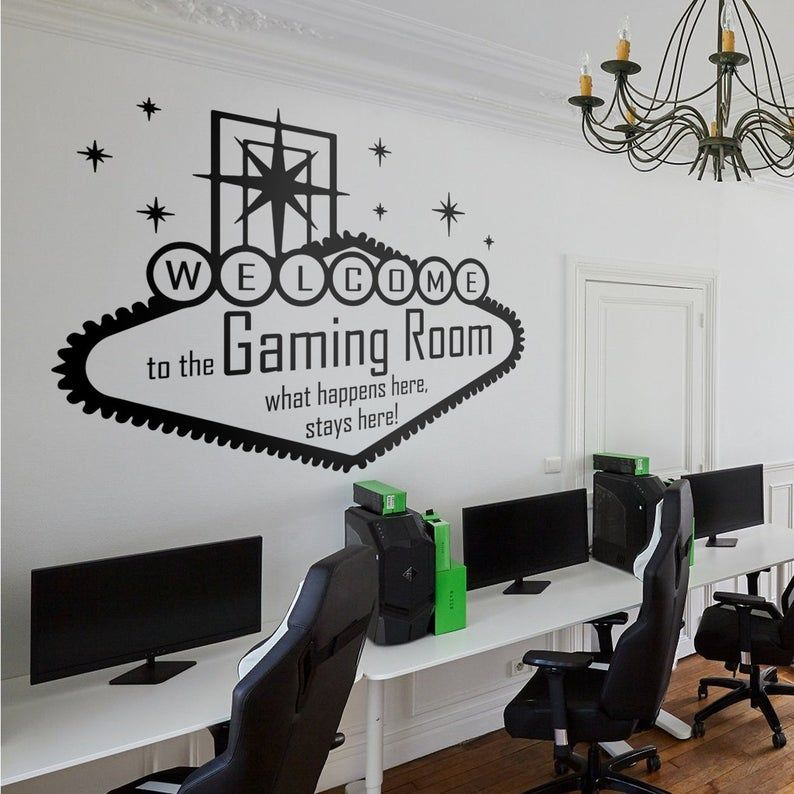 Welcome To The Gaming Room Wall Decal Game Room Game Room Kids Wall Decals