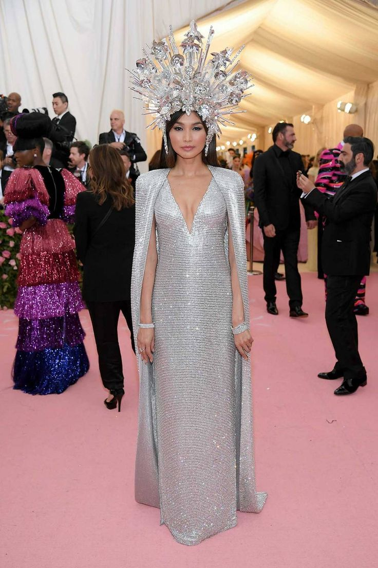 Gemma Chan wearing custom Tom Ford.