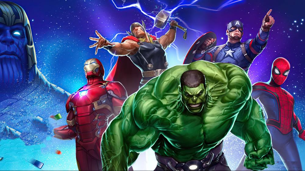 Desktop Wallpaper Marvel Puzzle Quest Video Game 2020 Hulk Avengers Artwork Hd Image Picture Bac Marvel Wallpaper Hd Gaming Wallpapers Hd Marvel Puzzle
