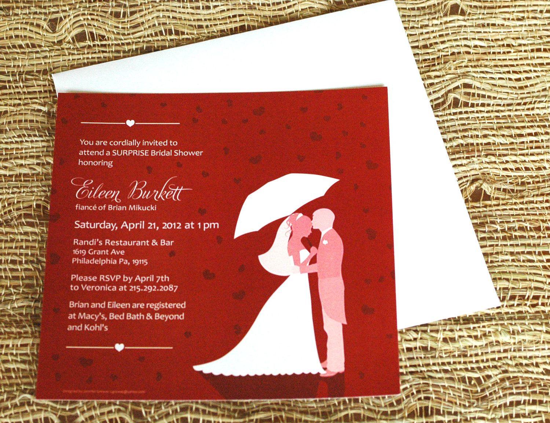 Enchanting Etsy Wedding Shower Invitations Vignette - Invitations ...