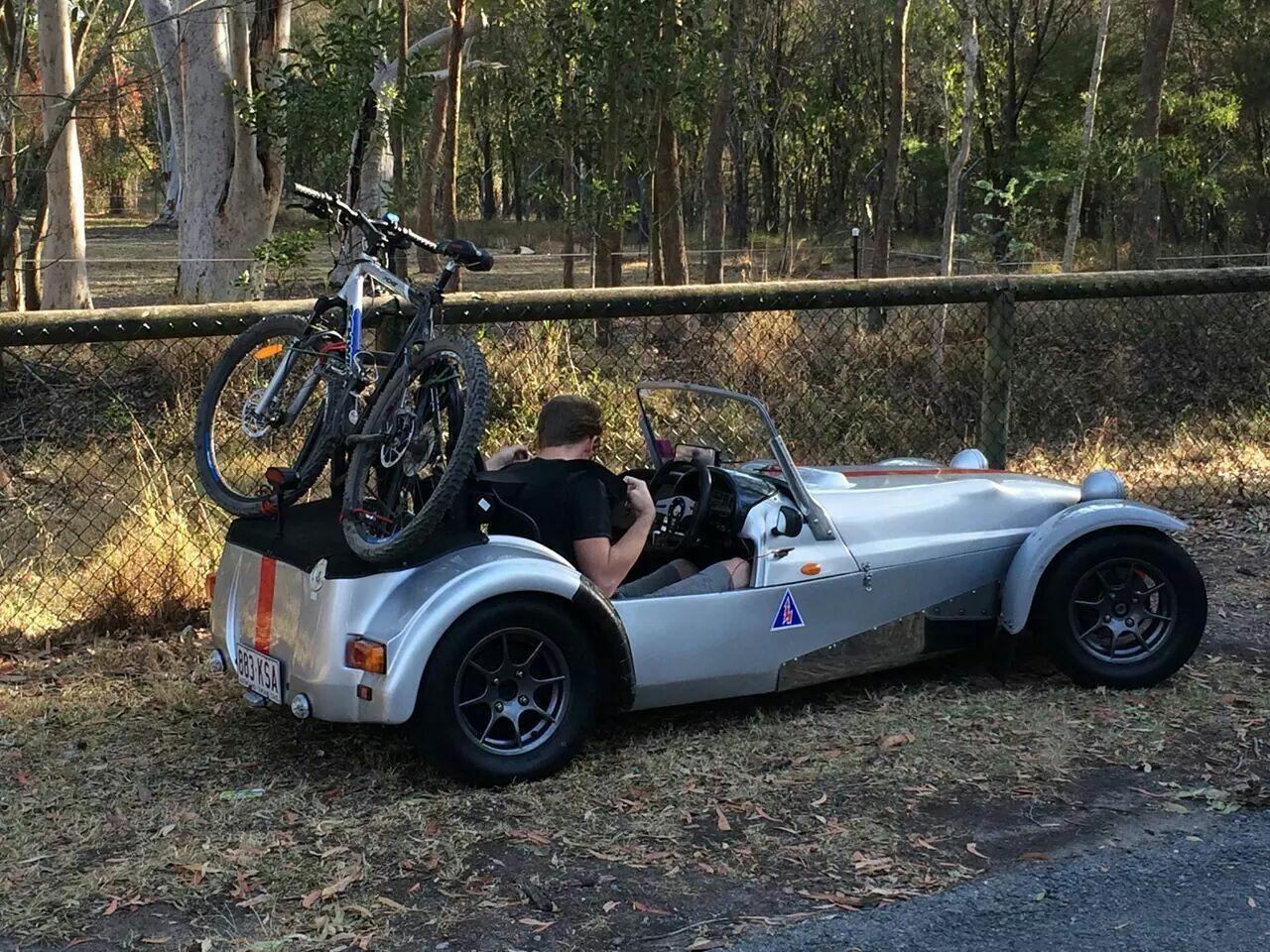 No Roof Racks Or Tow Bar Time To Get Creative Dream Cars Lotus Sports Car Caterham Seven