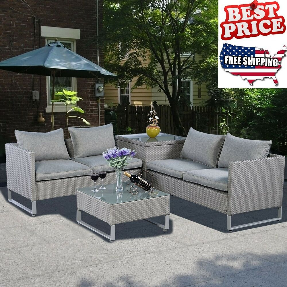Patio Furniture Sets Clearance Outdoor Sofa Lounger Rattan Table Cushioned Seat Patiofurniture C Patio Furniture Sets Summer Furniture Outdoor Furniture Sets - Outdoor Furniture Clearance Free