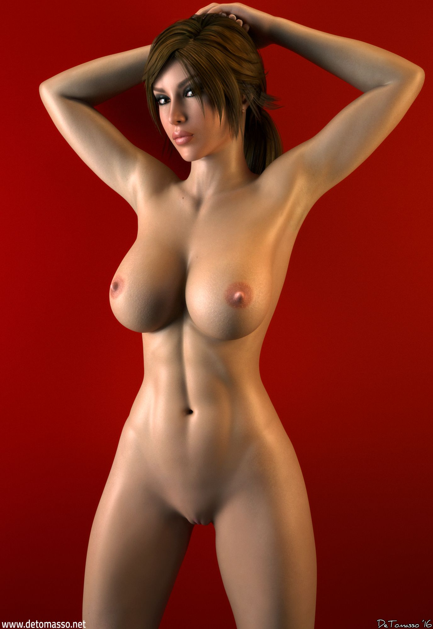 Laura croft red nude — pic 5