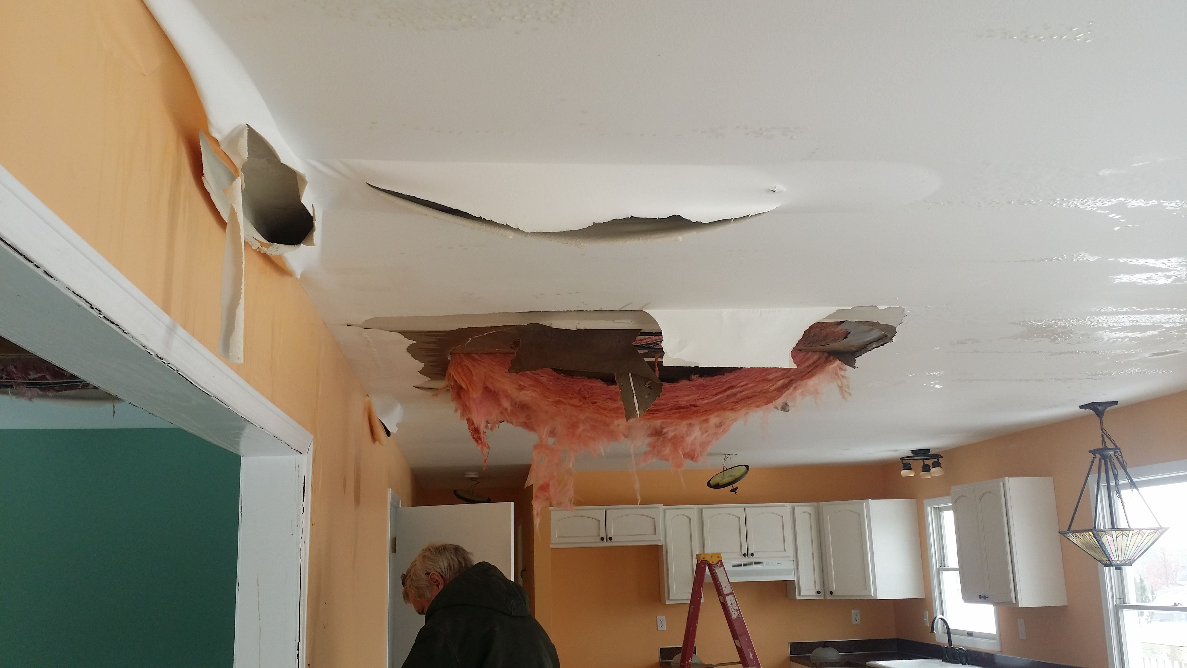 This Is What Happens When You Have A Bad Roof Leak Leaking Roof Ceiling Lights Home Decor