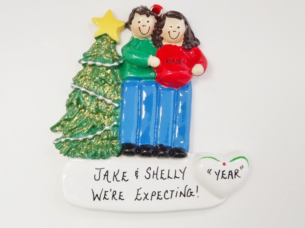 Christmas ornament expecting baby - Expecting Couple Ornament Expecting Twins Ornament Pregnant Couple Personalized Ornament Couple Expecting Twins