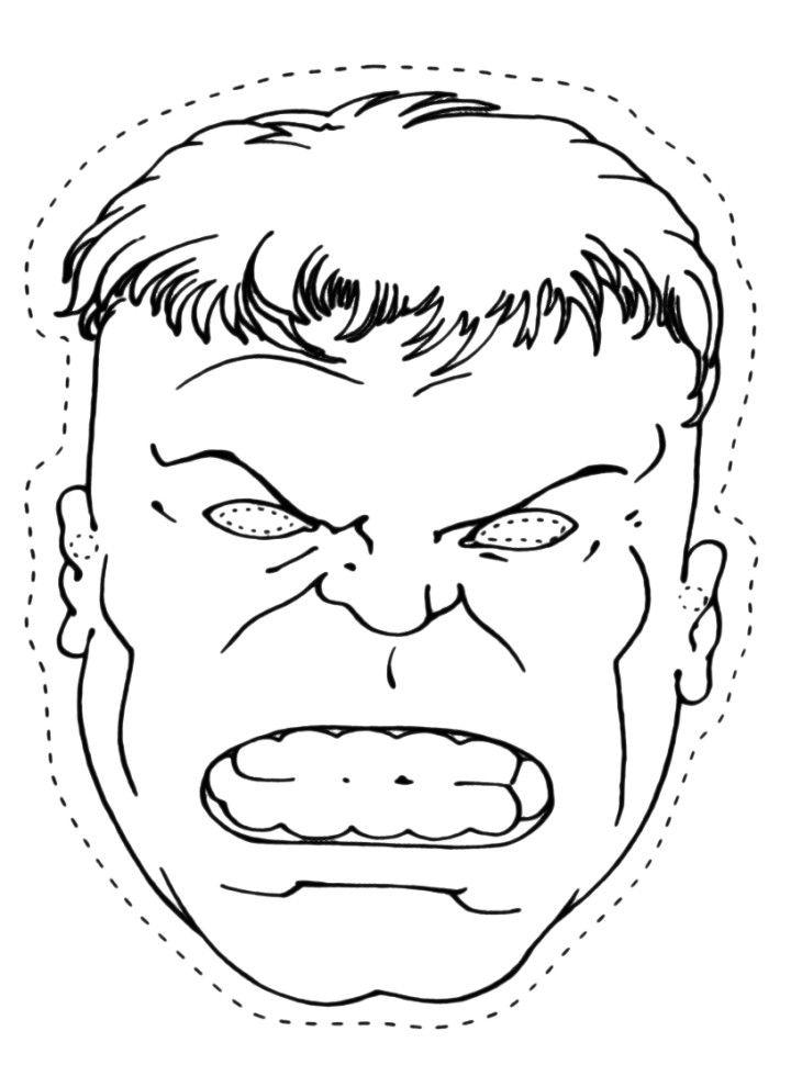 hulk mask Coloring Pages Hulk