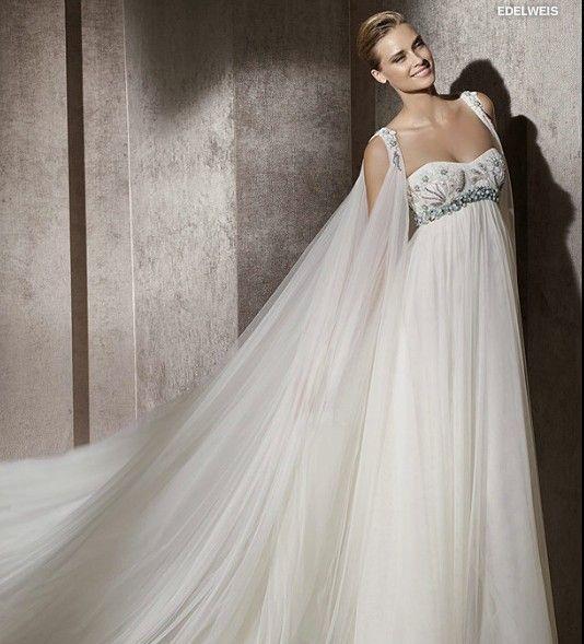 Cheap 2014 Refined Empire Waist Wedding Gown Features A-line ...