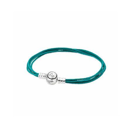 fe1f36ab09b20 Multi-Strand Teal Cord Bracelet - Retired   Pandora charms   Pandora ...