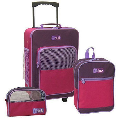 3Piece Kids Value Luggage Set Purple and Hot Pink ** Continue to ...