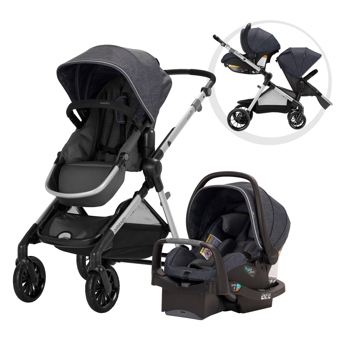 Evenflo Pivot Xpand Modular Travel System with Safemax