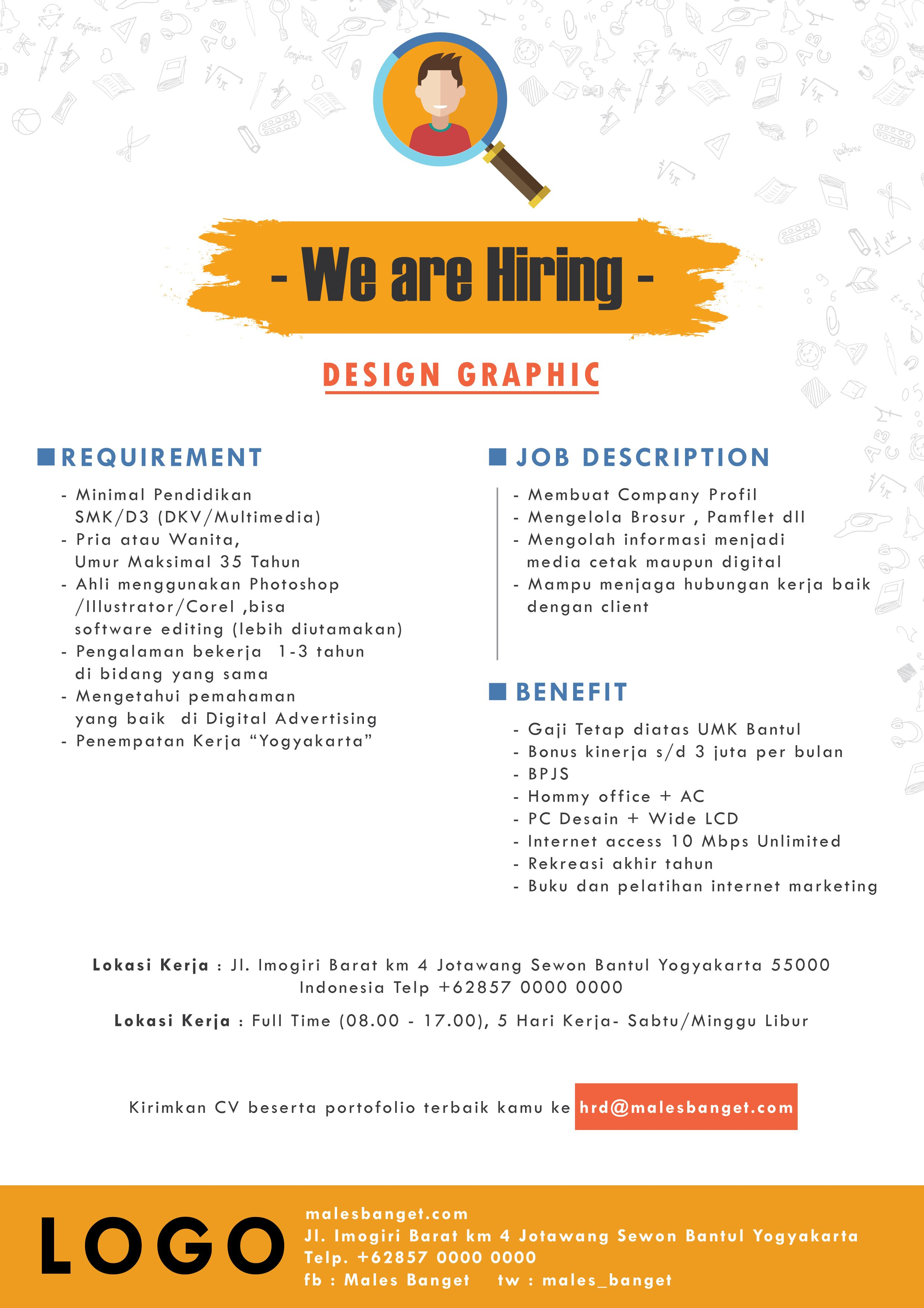 Sample Poster Open Recruitment Desain Brosur Brosur Desain Pamflet