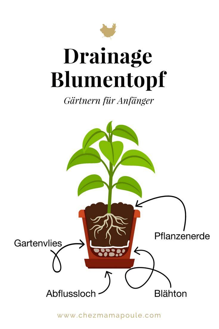 Drainage Blumentopf Chez Mama Poule Gartnern Mit Kind Gartenvlies Blumentopf Kinder Garten