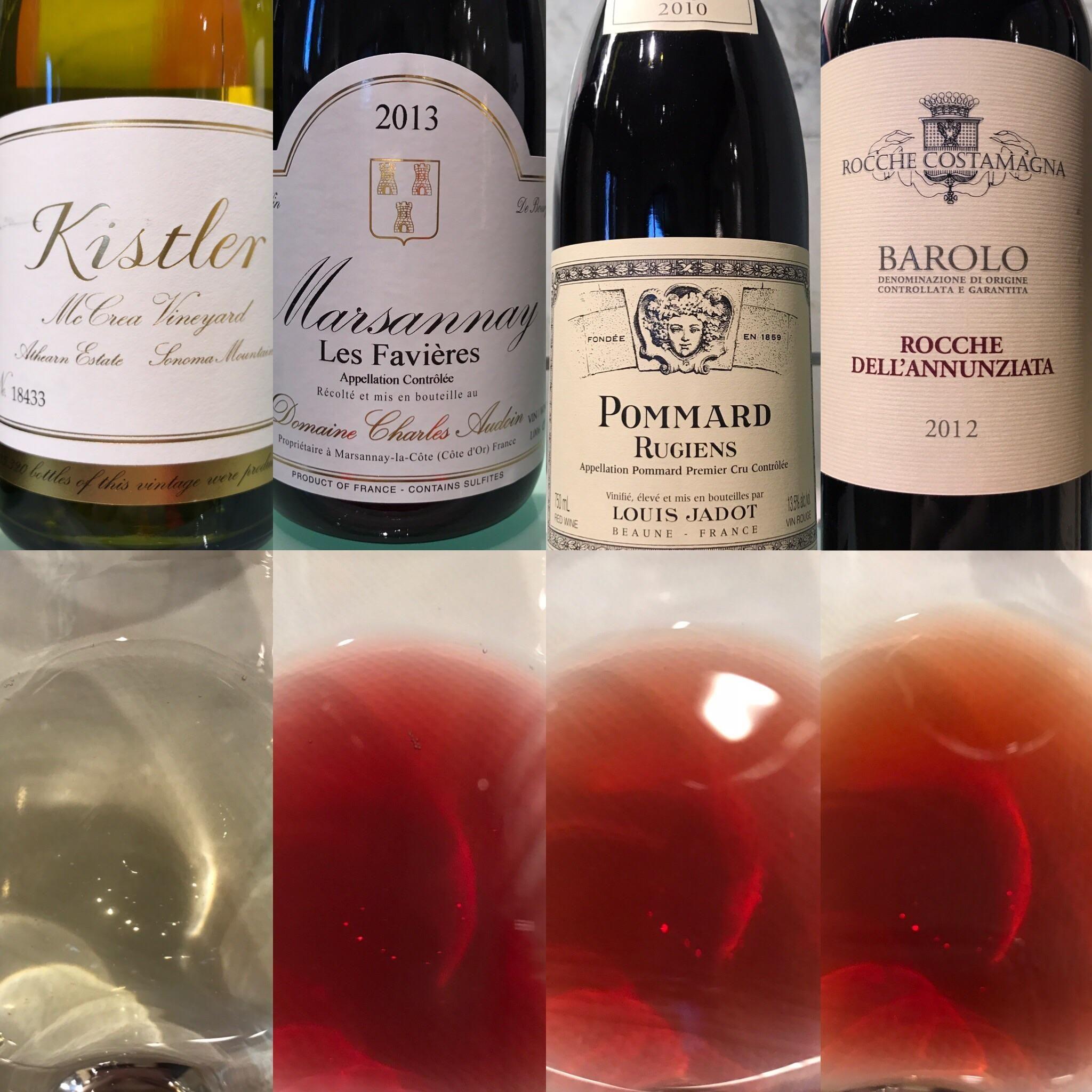 Kistler Mccrea Vineyard Chardonnay 2014 Domaine Charles Audoin Les Favieres Marsannay 2013 Louis Jadot Pommard Rugiens 1er Cr Rose Wine Bottle Wine Wine Bottle