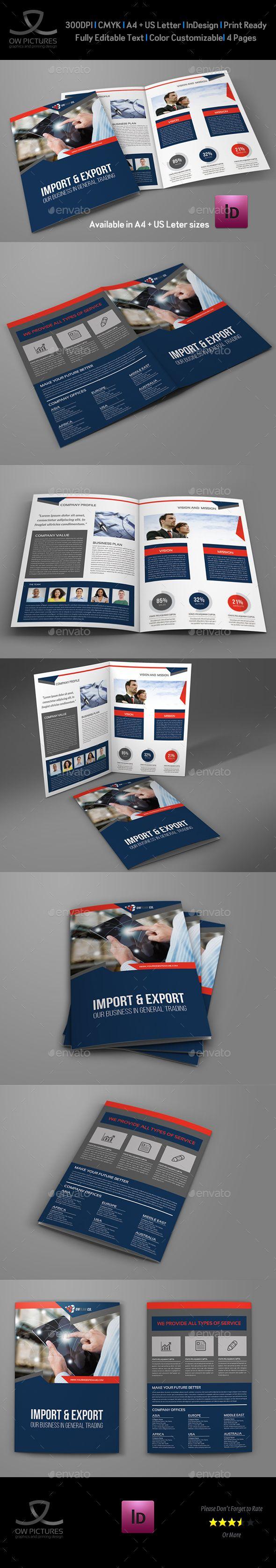 Company Profile Brochure Bi-Fold Template Vol.43 | Plantas
