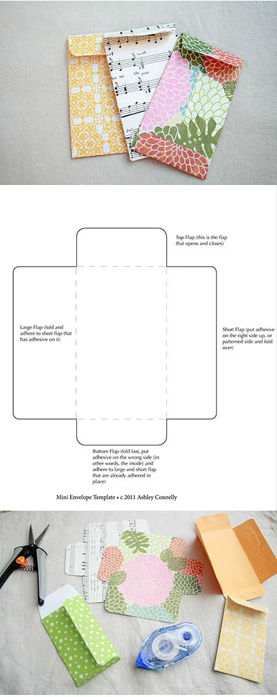 Free printable mini envelope template I make mine out of old - sample money envelope template