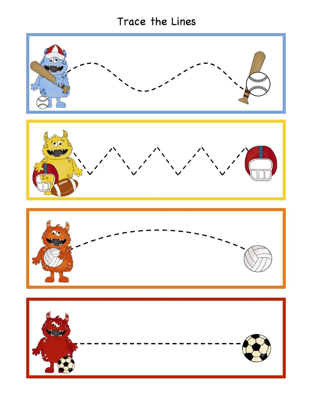 Preschool Printables Monsters All Stars Printable