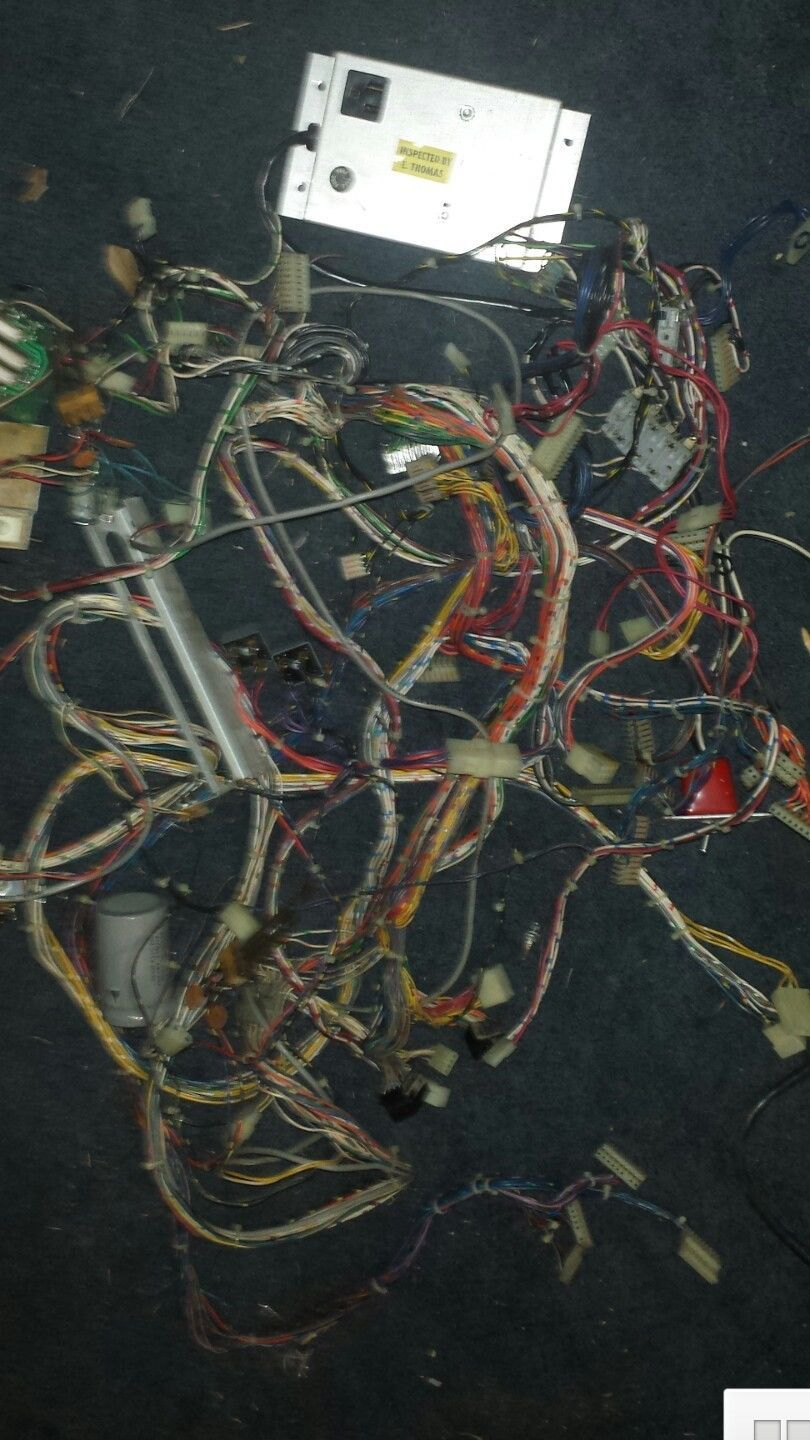Williams F14 Pinball Almost Complete Wiring Harness For The Whole Vintage Uk Machine