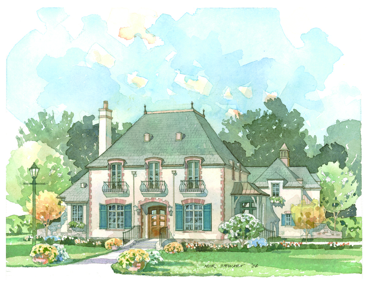 This Home Reflects The Chateau Esque Style Of The Timeless Residential Architecture Of The Loire Valley In French House Plans Southern House Plans French House