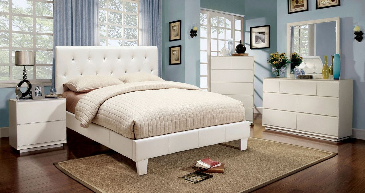 Furniture of america cmwhq pc queen bedroom set u pearl