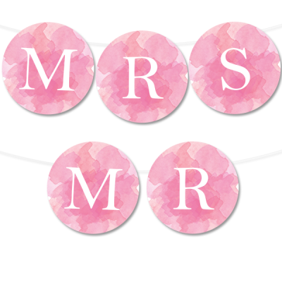free printable watercolor circle banner from chicfetti type in your own letters