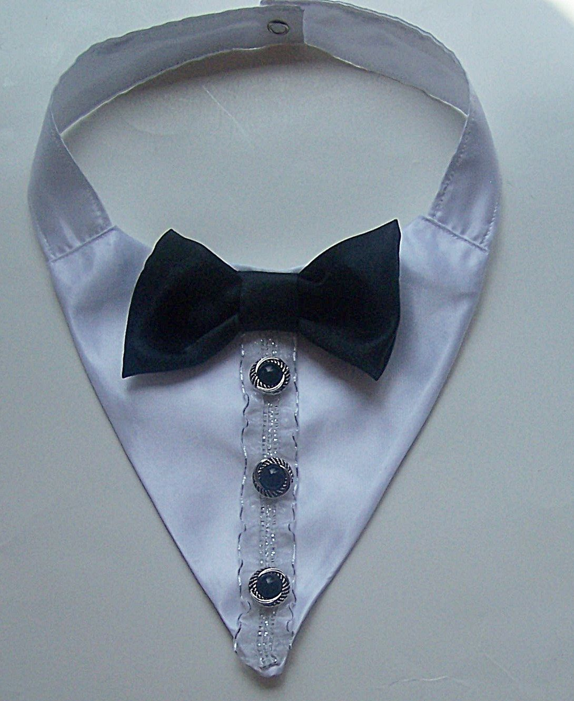 Tuxedo Dog or Cat Wedding Collar Wedding or Holiday Pet wear Neck ...