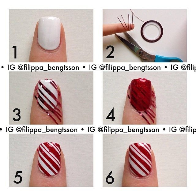 Here comes a new tutorial! And this time for my candy cane nails ...