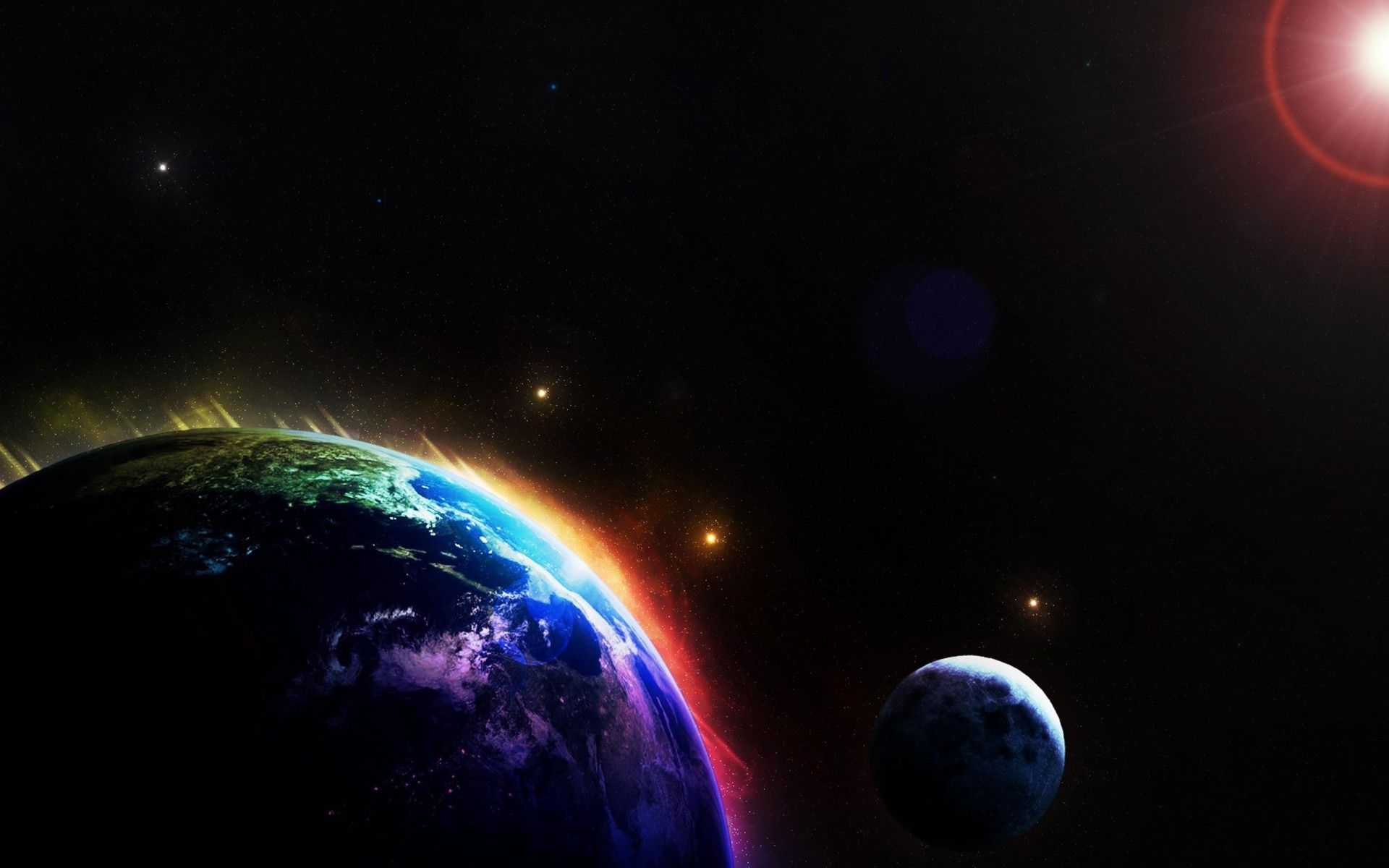 Download 1080p Space Backgrounds Free Rainbow Wallpaper